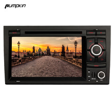 Pumpkin 2 Din 7 Inch Android 5.1 Car DVD Player For Audi A4 Quad-Core GPS Navigation Car Stereo FM Maps Bluetooth Wifi 3G Radio(China)