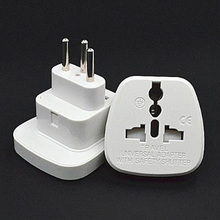 Universal white 10A 250V CE certified charging converter Swiss standard travel plug adaptor with security door