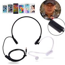 1pin 3.5mm Throat Mic Microphone Covert Acoustic Tube Earpiece Headset For Samsung/HTC/LG/Blackberry/MOTORO Smart Phone Earphone(China)
