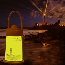 Lighthouse Night light Lamp Cute Portable USB Rechargerable LED Lights Reading Lamps For Baby Bedroom Sleep Lighting Art Decor(China)