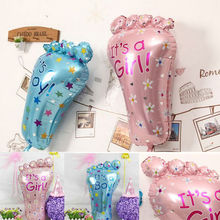 2017 New Children Classic Funny Toys Its a Boy Girl Baby Feet Shape Balloons Lovely Birthday Party Kids Shower Decoration Gifts