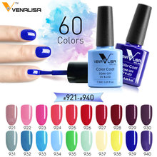 #61508 Free shipping CANNI Venalisa enamel nail gel polish 60 colors DIY manicure set uv gel polish gel nail lacquer(China)