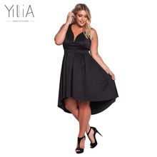 Buy Yilia Plus Size Dress Summer Elegant Women Clothing Feminino Sexy Black Sleeveless Line Maxi Long Party Dresses Deep V Strap for $21.83 in AliExpress store