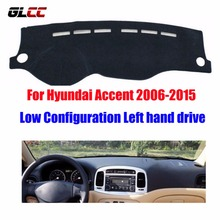 For Hyundai Accent 2006-2015 Low Configuration dashboard mat protective pad dash mat covers car styling accessories(China)