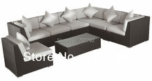 2017 New Arrivel Outdoor Rattan Furniture Patio Sectional Sofa Set
