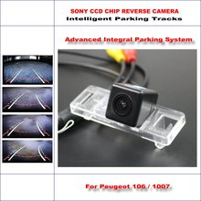 Backup Rear Reverse Camera For Peugeot 106 / 1007 / Peugeot RCZ 2009-2015 HD 860 Pixels 580 TV Lines Intelligent Parking Tracks(China)