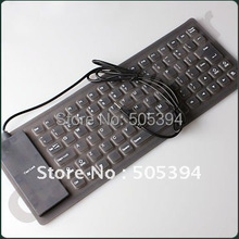 USB Flexible Foldable Silicone Keyboard For Pc Mac#9710