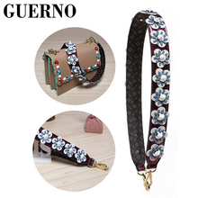 GUERNO cubic stud women handbag strap easy matching girls fashion bag belts wide punk design bags part chic bags accessoriesh008