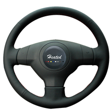 Heated Steering Wheel Cover for Suzuki SX4 Alto Old Swift Hand Sewing Anti-slip Breathable Microfiber leather()