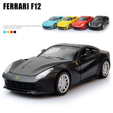 High Simulation Sport Car Model 1:32 F12  Autos a Escala Acousto-optic Diecast Metal Vehicles Boys Favourite Aolly Car Toys