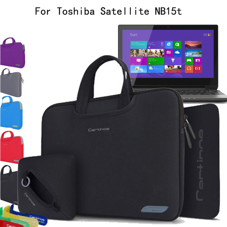 For Toshiba Satellite NB15T-A1302 11.6 Laptop 4-in-1 Neoprene Skin Shockproof Sleeve Carrying Case Briefcase Bag Pouch Cover<br><br>Aliexpress