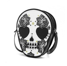 New Bags Women Skull Head Shoulder Crossbody Small Personalized Messenger Bag Handbag Hight Quality Vintage Cute Style 2016(China)