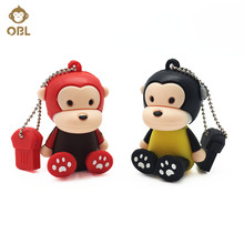 New Cute Cartoon Pen Drive 4GB 8GB 16GB 32GB 64GB 128GB USB Flash Lovely Drive Pendrive for PC Flash Memory USB Key USB Stick(China)