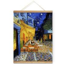 Вышивка ван гог картина в картине кафе