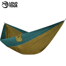 Camping Hammock Tent Swing Hanging-Chair Outdoor King-Size Sleeping-Bed Hamac Green People