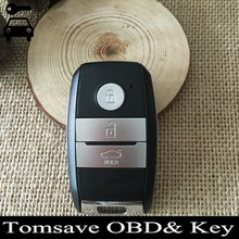 Free Shipping Original Size 3 Button FOB Keyless Entry Remote Key 433MHZ With ID46 Chip For Kia K5 Sorento Sportage