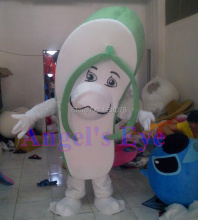 flip flops Mascot Costume Adult Size Cool Summer Slippers Sandal Juicy Mascotte Mascota Fancy Dress Suit for Carnival Cosply(China)