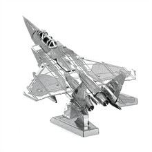 F-15 Eagle 3D Metal Puzzle Military Aviation Fighter Model Toys Magnetic Jigsaw Puzzle Learning Educational Toys For Boy