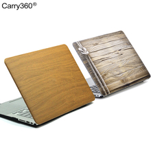 Carry360 Wood Grain PU Leather Case for Macbook Air 13 Case Cover Laptop bag for Apple Mac book Air Pro Retina 11 12 13 15 inch(China)