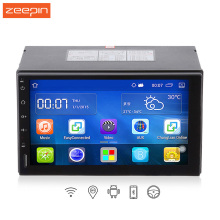 Android 5.1.1 7 Inch Quad Core 2 Din GPS Navigation Car DVD Player For Honda Ford Peugeot WiFi Bluetooth 2 Car Multimedia Player