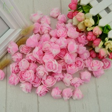 50 pcs PE Foam fake flower roses head artificial flowers cheap wedding decoration for scrapbooking gift box diy wreath Multi-use(China)