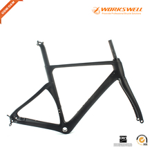 Disc road bike frameset carbon road bike frame bicycle full monocoque carbon frame disc aero carbon road frame(China)