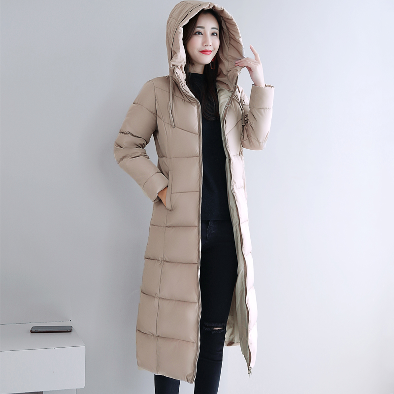 Plus Size 4XL 5XL 6XL womens Winter Jackets Hooded Stand Collar Cotton Padded Female Coat Winter Women Long Parka Warm Thicken 32