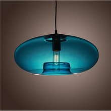 Round light lamp Contemporary Glass Pendant Light lamp for home lighting Blue Color