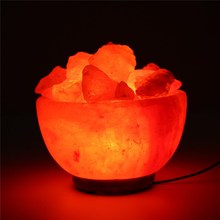 Crystal Himalayan Night Light Hand Carved Natural Salt Rock Tea Light Attractive Air Purifying Night Lamps For Bedroom 110V