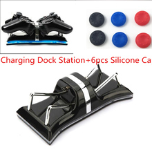 Dual Charging Back Stand Docking Station with LED light Indicator For Sony PlayStation PS3 / PS3 Slim Controller+Silicone Caps(China)