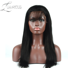 Luxurious 180% Density Full Lace Human Hair Wigs For Black Women 8-26inch Long Straight Brazilian Virgin Baby Hair(China)