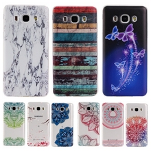 Colorful TPU Case sFor Coque Samsung galaxy J7 2016 J710F J7100 Floral Clear Soft Gel Transparent Case Cover For Galaxy J710