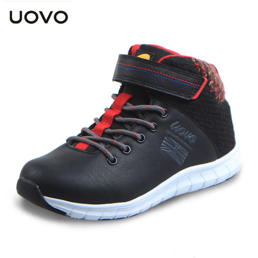 UOVO child Shoes MD Soles PU Leather boots Childrens 3D EGG MEMBRANE SYSTEM Shoes Outdoor Sport Shoes for boy kids Eu 31-39   <br>
