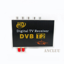 Double 2 Antenna Car DVB T2 Mobile Digital TV Box External USB DVB-T2 Car TV Receiver Russian&Europe&Southeast Asia
