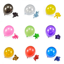 Buy 10 Inchs 1.5g Black Gold Balloons Helium Balloons Latex Thickening Pearl Balls Wedding Birthday Inflatable Ball Party 100pcs for $6.08 in AliExpress store