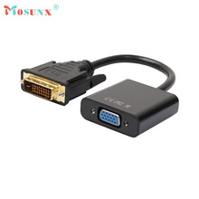 Hot-sale MOSUNX DVI-D 24+1 Pin Male to VGA 15 Pin Female Active Cable Adapter Converter Computer Cable Gifts Wholesale