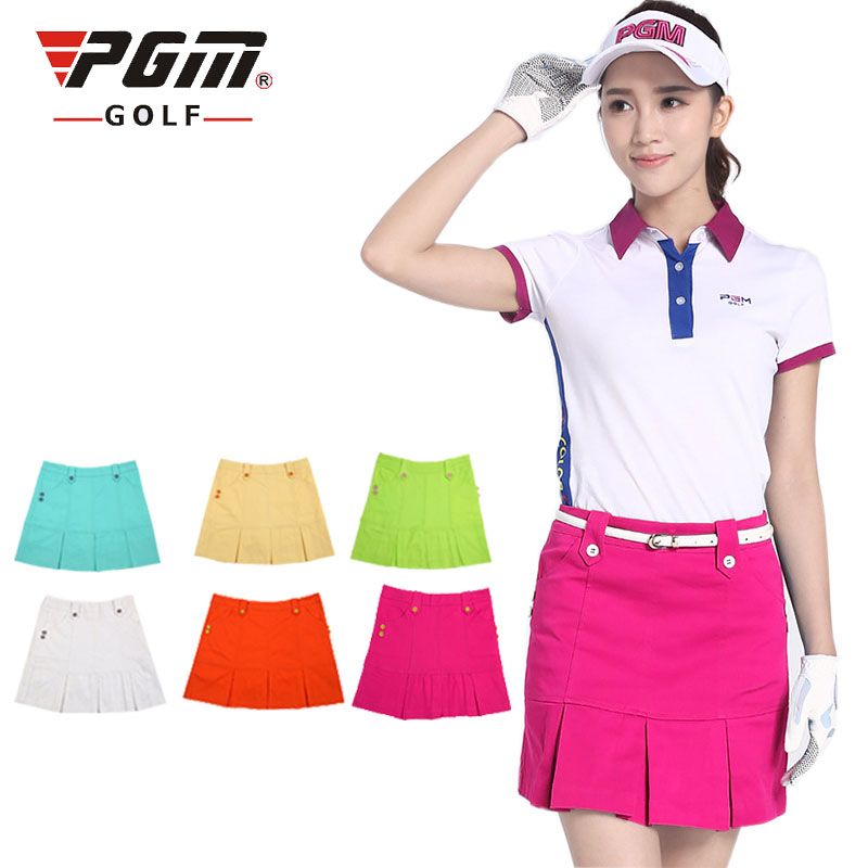 031703 Simple solid color cotton breathable sweaty soft golf skirt 7 colors optional<br>