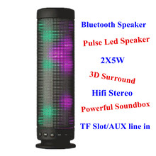 Pulse Dance Led Speaker w/ TF Slot Aux 3D Surround Bluetooth Speaker 2X5W Hifi Stereo Portable Mini Speaker Music Angel JH-XC01