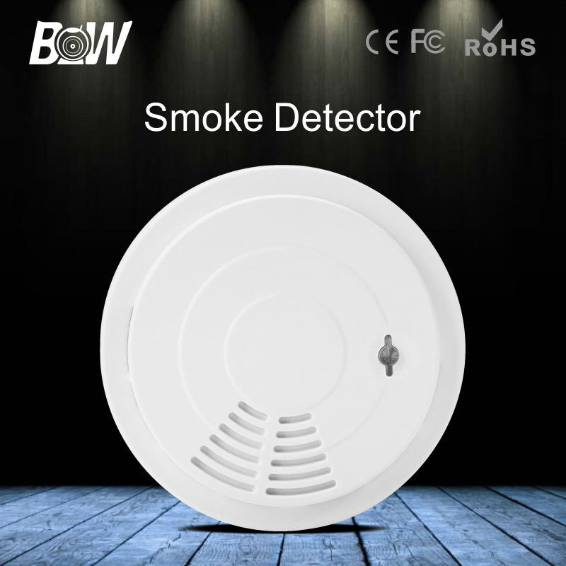 BW Wireless WiFi Smoke Detector Home Security Fire Alarm System Accessory Siren for Surveillance IP Camera CCTV Free Shipping(China (Mainland))