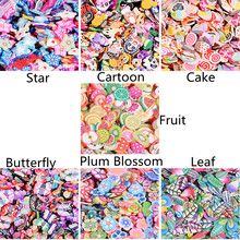 1000Pcs/pack 3D Nail Art Fruit Fimo Slices Polymer Clay DIY Slice Decoration Nail Sticker Nail Jewelry Acrylic Decoration Manicu