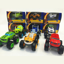 6 Colors Blaze and the Monster Machines Vehicles Diecast Toy Racer Cars Trucks Kid Funny Educational Car Toy Xmas Gift With Box(China)