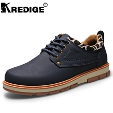 KREDIGE Men derby dress shoes casual formal shoes male work safety leather shoes British breathable board shoes lace-up footwear(China)