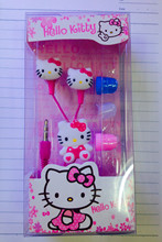 2017 Newest Cartoon hello Kitty 3.5mm jack music headset earphone for iphone 5 6 pad MP3 playback of audio equipment