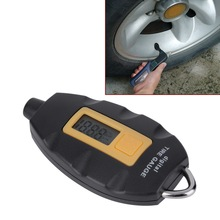 Portable Digital Tire Tyre Pressure Air Gauge LCD Display For Car Motorcycle Brand New