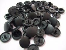 Free shipping 100 sets KAM snap button for sewing  baby matt color beautity plastic fastener snap button  B5 Black  Scrub color