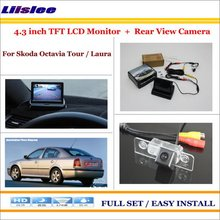 "Liislee For Skoda Octavia Tour / Laura In Car 4.3"" Color LCD Monitor + Car Rear Back Up Camera = 2 in 1 Park Parking System(China)"