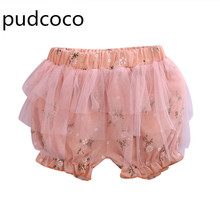2017New Summer Newborn Baby Infant Girls Hot Pants Cotton Mesh PP Floral Cute Lovely Children Short Bottom Panties Baby Clothing(China)