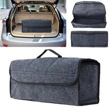 Foldable Felt Car Trunk Seat Back Storage Bag Grey Auto Interior Bag Hanger Storage Holder Sundries Organizer Stowing Tidying