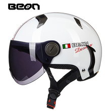 Factory Outlet BEON B102 Summer Motorcycle Helmet Scooter Cascos Helmets Capacete Motorbike Casco Moto Half Face Helmets(China)