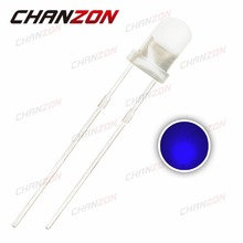CHANZON 100pcs Blue 3mm LED Diffused Round DC 3V 20mA Wide Angle 3 mm Through Hole LED Light Emitting Diode Lamp PCB Components(China)